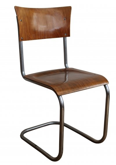 1930's Modernist Tubular Cantilever Chair by Gottwald