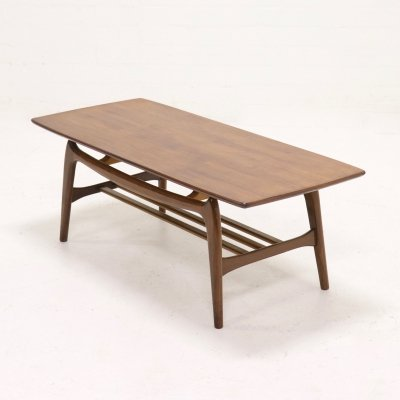 Sculptural Teak Coffee Table by Louis van Teeffelen for WeBe, 1950's
