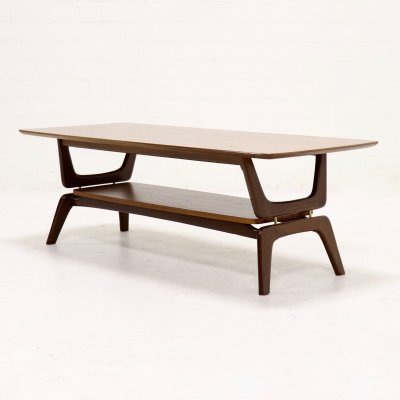 Sculptural Teak Coffee Table by Louis van Teeffelen for WeBe, 1960's