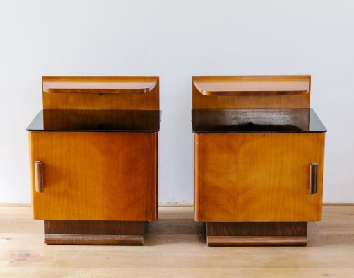 Pair of Art Deco Night Stands by J. Halabala