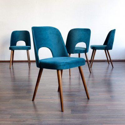 Set of 4 dining chairs by Oswald Haerdtl for Tatra Nabytok Pravenec, 1960s
