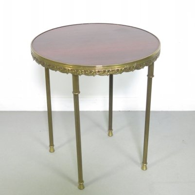 Small side-table with brass legs