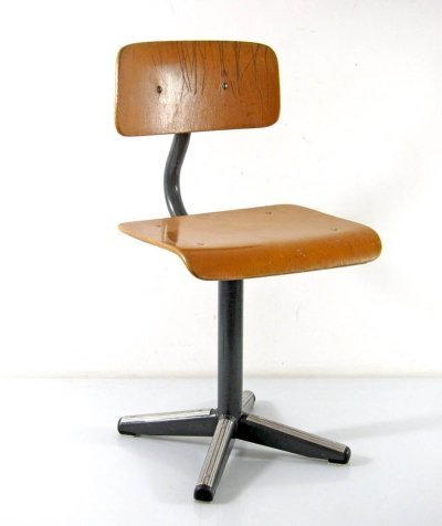 Plywood & metal Childrens chair, 1950s