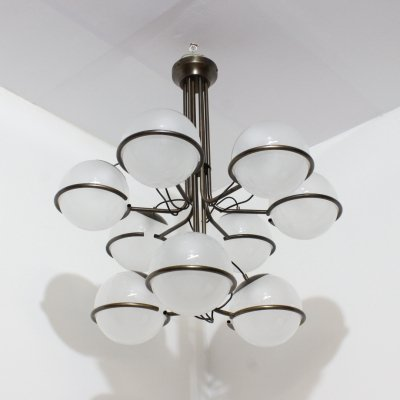 2 x Italian design hanging chandelier by Candle, 1960s