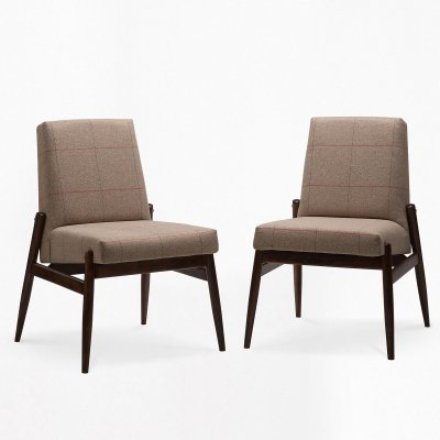 Pair of Celia type 300-227 arm chairs by Zamość Furniture Factory, 1960s
