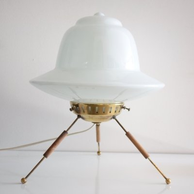 French Vintage Mid-century Space Age Table Lamp, 1960's