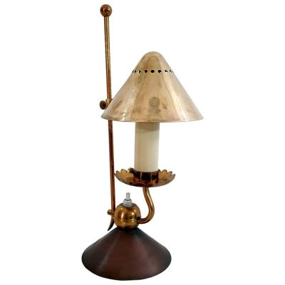Midcentury Stilnovo Brass Night Lamp, Italy