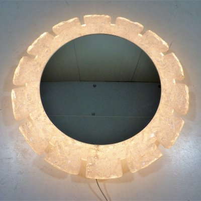 Illuminated Round Mirror by Hillebrand, 1960's