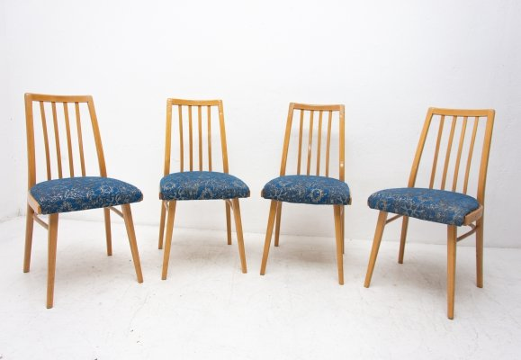Set of 4 dining chairs by Jiří Jiroutek for Interier Praha, 1960s