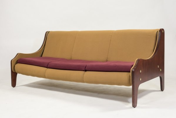 Marco Zanuso three seats 'Milord' sofa by Arflex