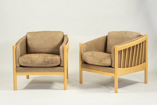 1970's Vintage Danish design set of two armchairs by Stouby