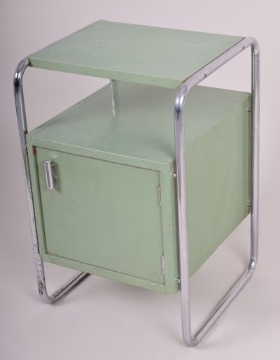 Green Vintage Bauhaus Bed-Side Table by Mücke - Melder, 1930s