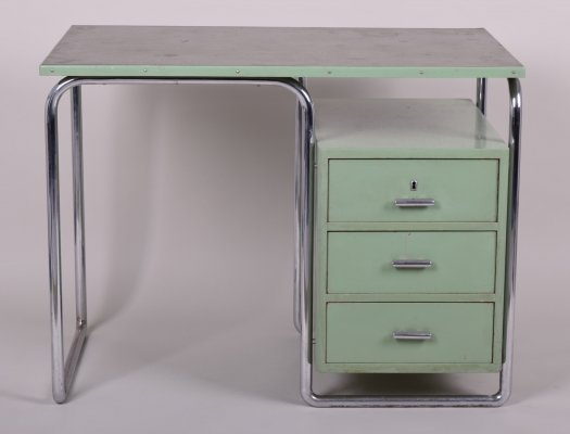 Green Vintage Bauhaus Writing Desk by Mücke-melder, 1930s