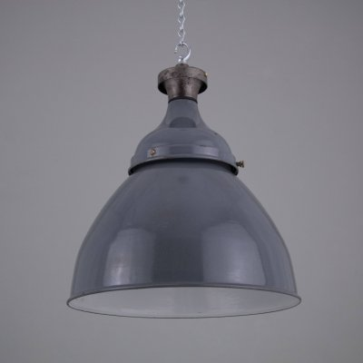 XL Lobnitz Dock pendant lights in grey, 1950s