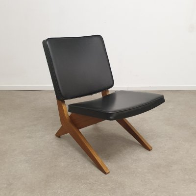 FB18 Scissor chair by Jan van Grunsven for Pastoe, 1950s