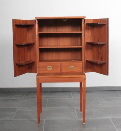 Teak Pipe Cabinet by Henning Korch for Silkeborg