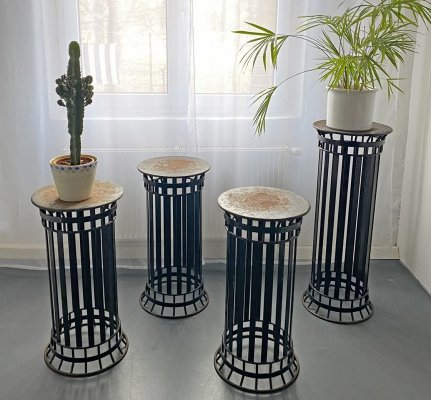 Wrought Iron Flower-Columns from a castle park, France 30s - 50s