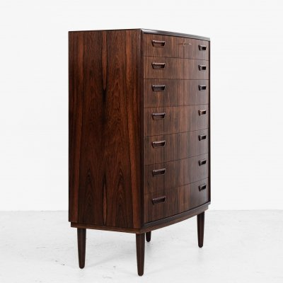 Midcentury Danish chest of 7 drawers in rosewood by PMJ Møbler, 1960s