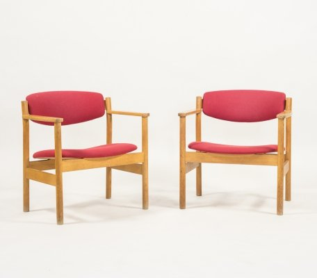 Two mid-century armchairs by Jørgen Bækmark for FDB Møbler, 1960s