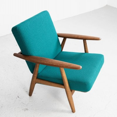 Cigar chair in oak & teak by Hans Wegner for Getama, 1950s