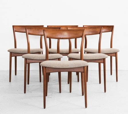 Midcentury Danish set of 6 dining chairs in teak, 1960s