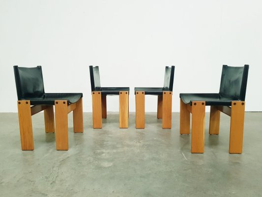 Set of 4 Monk chairs by Tobia Scarpa & Afra Scarpa for Molteni, 1970s