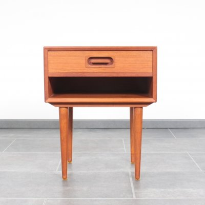 Little Dyrlund nightstand in teak with drawer, 1960s