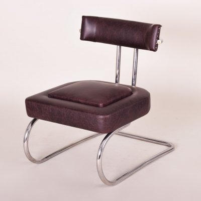 Art Deco Chrome Armchair by Mücke-Melder, 1930s