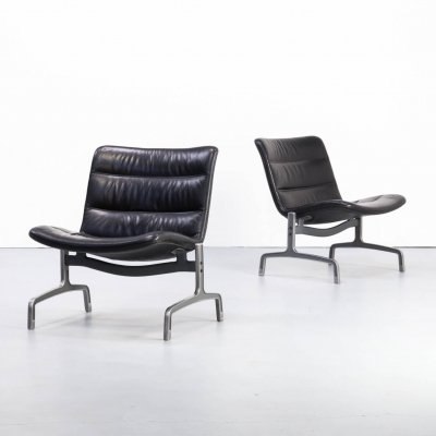 Rare pair of 'serie 8000' chairs by Jørgen Kastholm for Kusch & Co, 1970s