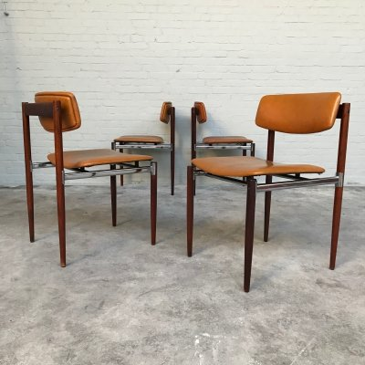 Set of 4 Dining Chairs by Thereca, Dutch Design 1960s