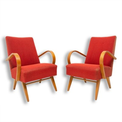 Pair of bentwood armchairs by Jindřich Halabala, 1960s