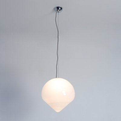 XL White Murano Glass Pendant Lamp by A. Barbini