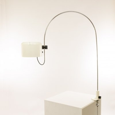 Large arc table lamp Coupé by Joe Colombo for O-Luce