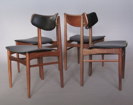 Set of 4 Oswald Vermaercke dining chairs, 1950s