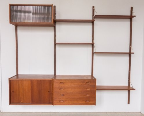 Teak wall unit by Peter Sorensen for PS System