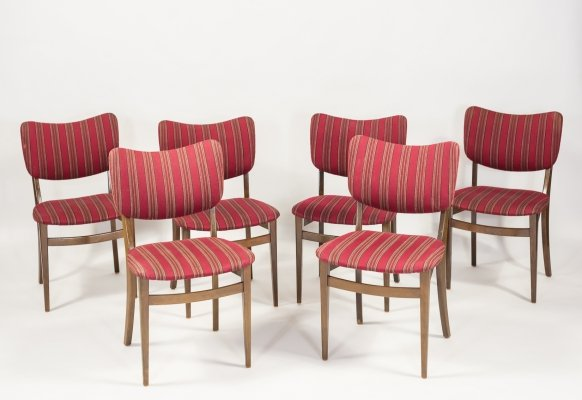 Set of 6 chairs by Niels Koppel for Slagelse Mobelvaerk, 1950's