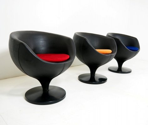 'LUNA' chairs by Pierre Guariche for Meurop, 1967
