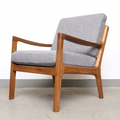 Senator Teak Lounge Chair by Ole Wanscher for Cado