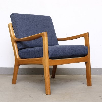 Senator Teak Lounge Chair by Ole Wanscher for P. Jeppesen