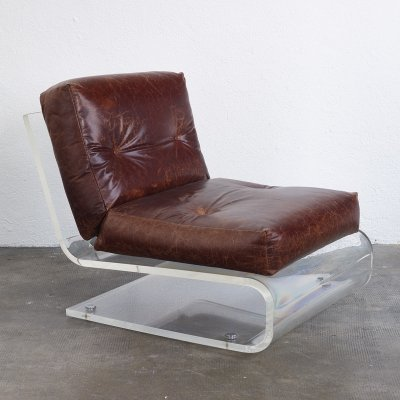 Lucite lounge chair by Jacques Charpentier, 1970