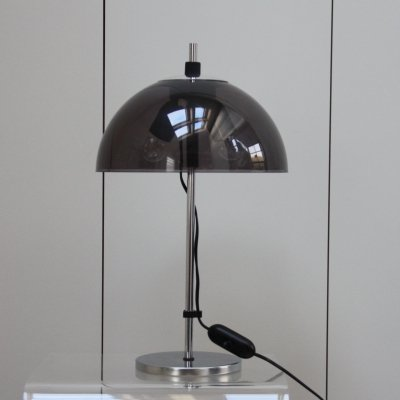 Table lamp in chrome plated steel & plexiglass, Netherlands 1960's