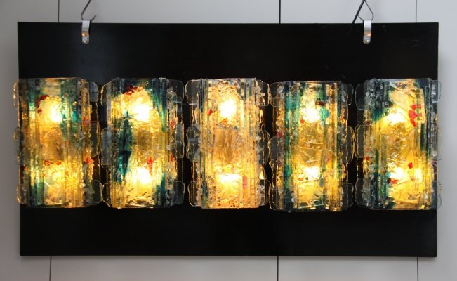 Set of 5 'Chartres' wall lights by Willem Van Oyen for Raak, Netherlands 1960's