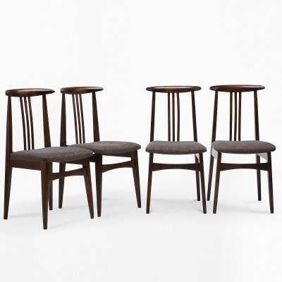 Set of 4 chairs by M. Zieliński, 1960s