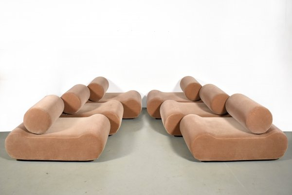 6 element COR Corbi Modular Seating System by Klaus Uredat, 1972