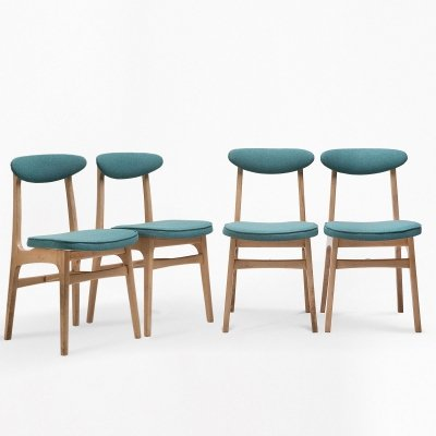 Set of 4 chairs by R.T. Hałas, 1960s