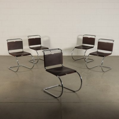 Five MR Chairs by Mies Van Der Rohe for Knoll