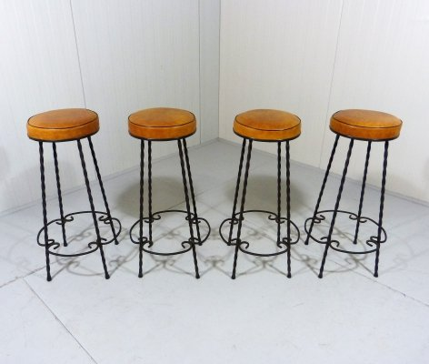Set of 4 Fifties Bar Stools