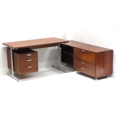 Large vintage Made to Measure corner desk by Cees Braakman for Pastoe, 1960