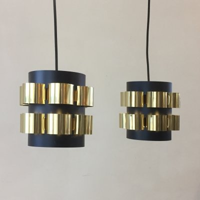 Set of 2 hanging lamps by Werner Schou for Coronell, 1960s