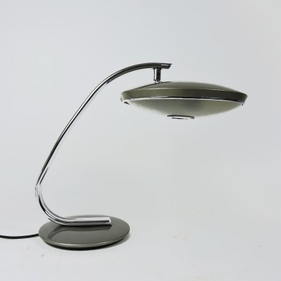 Grey & Chrome Model 520 Table Lamp from Fase, 1970s